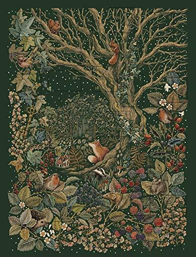 The Art File Adventskalender 2020 Secret Garden Großer traditioneller Adventskalender mit Umschlag