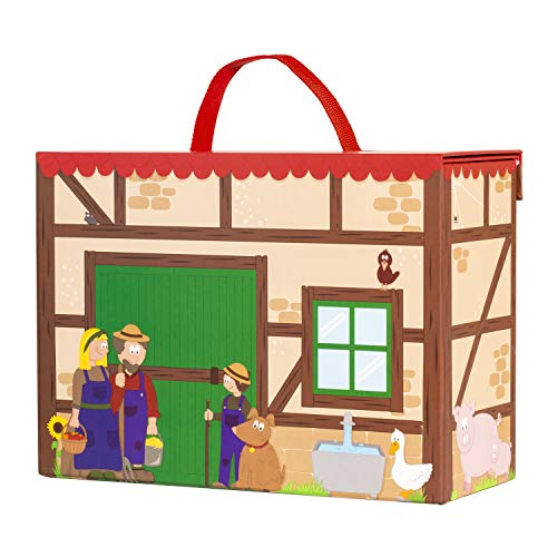 Bauernhof für Kinder inkl. Adventskalender mit 24 Holzfiguren – detail 1