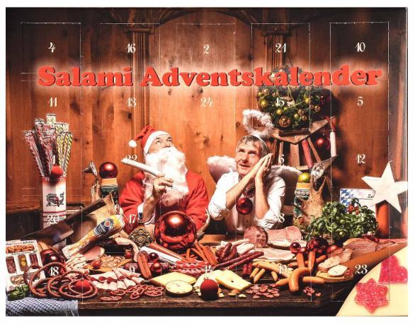 Bayerischer Salami Adventskalender