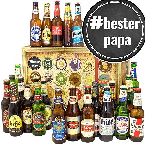 BesterPapa - Vater Geschenke Geburtstag - 24x Bier aus aller Welt - Bier Adventskalender Männer