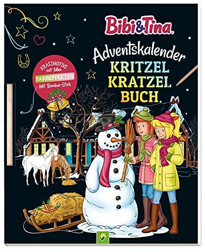 Bibi & Tina Adventskalender Kritzel-Kratzel-Buch: Kratzmotive mit tollen Farbeffekten