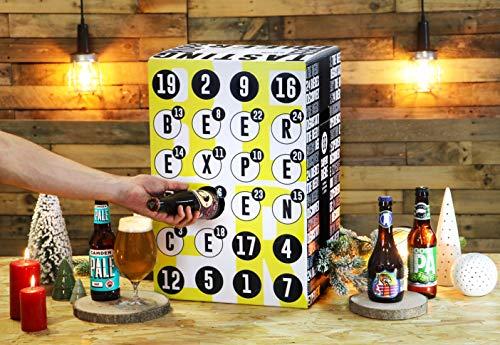 Bier Adventskalender 24 Flaschen verschiedene internationale Biere aus aller Welt als Geschenkbox (24 x 0,33l)   Geschenkidee für Männer   Probierpaket   Geburtstag