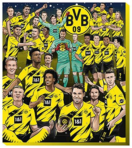 Borussia Dortmund Adventskalender 2020 BVB 09 Weihnachtskalender Weihnachten inkl. Autogrammkarten-Set (€ 9,95/100g)