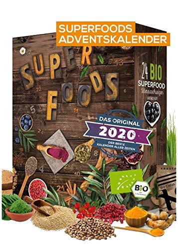 SUPERFOOD Adventskalender I beliebter Weihnachtskalender mit 24 leckeren Überraschungen! gesunder Adventskalender für eine geschmackvolle Adventszeit – Boxiland – detail 2