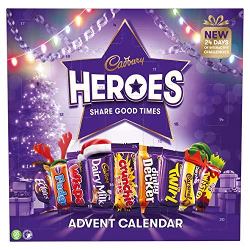 Cadbury Heroes Adventskalender für Weihnachten, Schokolade, 230 g