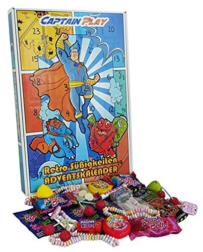 CAPTAIN PLAY   Retro Süßigkeiten Adventskalender   360g