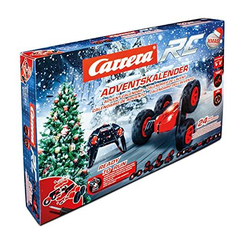 Carrera RC Turnator Xmas Calender | Adventkalender für Kinder ab 12 Jahren | Adventkalender für Bastler | ferngesteuertes Auto selbst Bauen | sofort einsatzbereit, 370240009