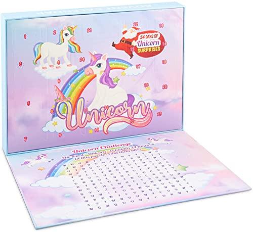 KaRaL Einhorn Adventskalender 2021 (Einhorn) Spielzeug und Puzzle Perfektes Geschenk für Weihnachten
