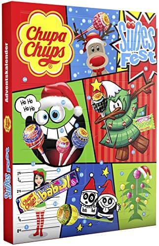 Chupa Chups Adventskalender Süßes Fest, 24 Lutscher- und Kaugummi-Überraschungen zu Weihnachten 2019, Alternative zum Kalender mit Schokolade – Chupa Chups – detail 2