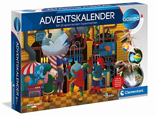 Clementoni 59190 Galileo Science – Adventskalender, spannender Weihnachtskalender, Experimentierkasten mit 24 aufregenden Geschenken, Tricks für Kinder ab 8 Jahren