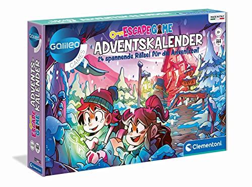Clementoni 59251 Escape Game – Adventskalender 2021, rätselhafter Weihnachtskalender, Rätselspaß hinter jedem Türchen, spannender Kalender mit 24 Rätseln & Hinweisen