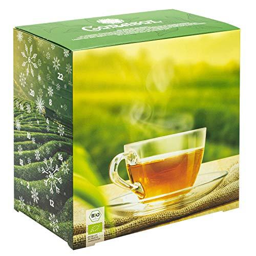 Corasol Premium Bio-Tee-Adventskalender 2020 mit 24 Premium Bio-Teesorten, loser Tee, Geschenk-Idee für nachhaltigen Genuss (215 g)