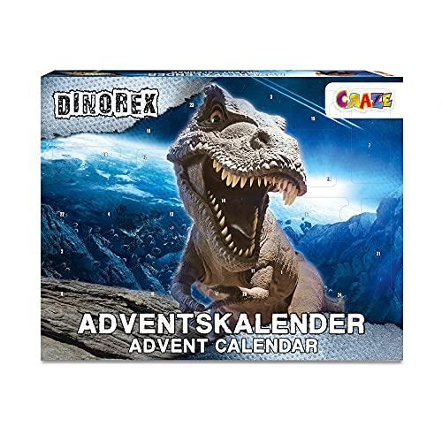 CRAZE ADVENTSKALENDER DINOREX Dinosaurier Weihnachtskalender für Kinder Spielzeugkalender Dino Spielfiguren 33401, Tolle Überraschungen variant