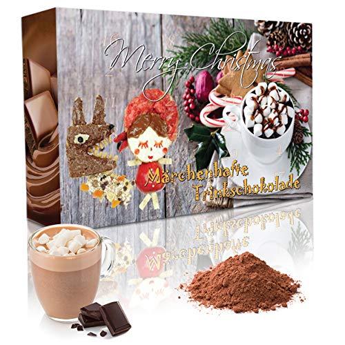 C&T Trinkschokolade Adventskalender 2020 (No2) | 24 Sorten italienische Kakao-pulver mit Verfeinerungstipps | Trinkschoko Weihnachtskalender