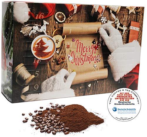 C&T Kaffee Adventskalender 2021   24 à 25g Bio Kaffees & fair gehandelte Raritäten + Überraschung im Kalender   Weihnachtskalender Fairtrade variant