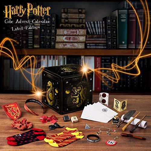 Harry Potter Advent Calendar 2020, Cube Christmas Countdown Calender With 24 Surprises Including Jewellery, Stickers, Badge, Hair Accessories, Socks And Magic Wand Pens, Toy Calendars For Girls variant