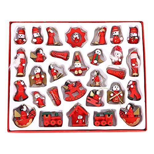 Osuner Adventskalender 2021 Weihnachtsbaum Dekoration Anhänger Weihnachten Countdown Spielzeug Set für Mädchen Jungen Überraschungsgeschenk