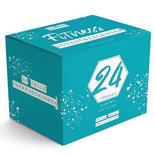 DER PROTEIN ADVENTSKALENDER   Premium Edition   24 Geschenke bis Weihnachten   High Protein   Fitness Foods von Topmarken   Nur Originalgrößen