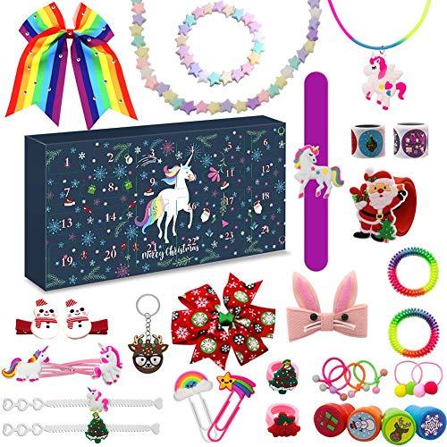 Devis Adventskalender Weihnachten, 2020 Countdown Kalender, Armband, Halskette, Haarschmuck, Schlüsselanhänger, Kinder Mädchen Frauen