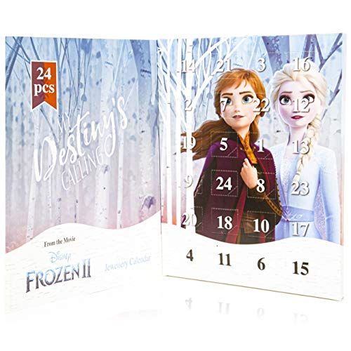 Disney Die Eiskönigin Frozen 2 Schmuck Kalender für Mädchen mit 24 Schmuck von Disney Anna Elsa Die Eiskönigin 2 Tolle Inhalte Kalender - Geschenke für Mädchen
