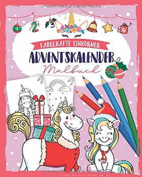 Einhörner Malbuch Adventskalender 2019