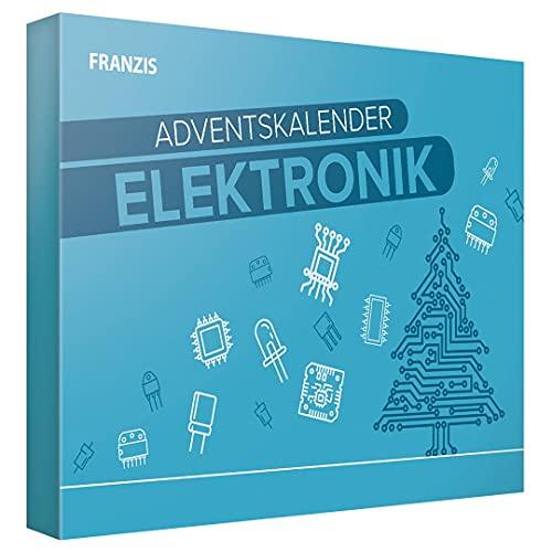 Franzis 67400-5 Adventskalender Elektronik-24 elektronische Versuche im Advent, für Kinder ab 14 Jahre, bunt