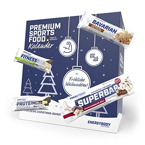 Energybody Riegel Adventskalender 2020   Proteinriegel, Haferriegel & Ausdauerriegel   Ideale Geschenkidee für Sportler   26 Fitness Riegel