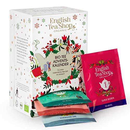 English Tea Shop - Tee Adventskalender weiß, 24 einzeln verpackte Teebeutel mit hochwertigen BIO-Tees
