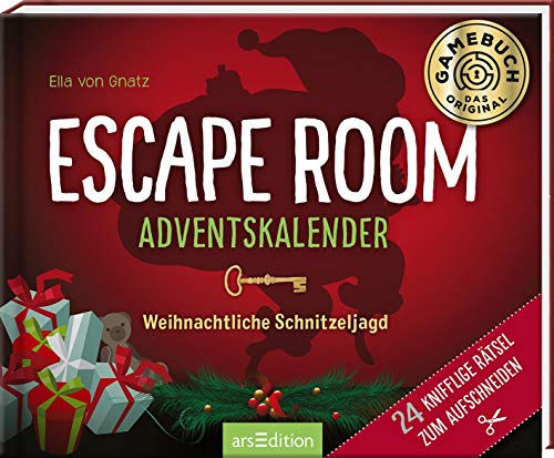 Escape Room Adventskalender. Weihnachtliche Schnitzeljagd. 24 knifflige Rätsel zum Aufschneiden: Ein Escape-Abenteuer im Schnee