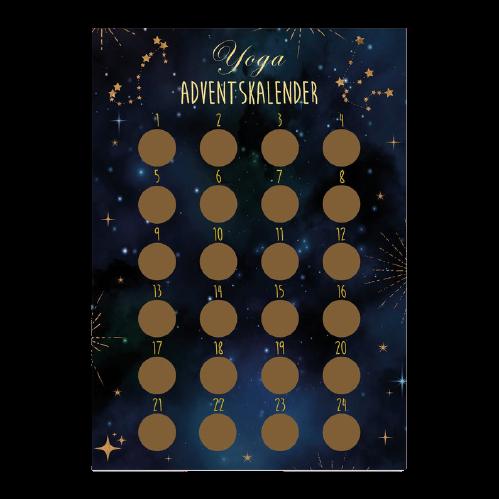 Yoga Adventskalender mit Rubbelsticker