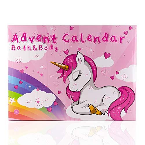 Accentra Beauty-Adventskalender Unicorn für Frauen, Mädchen, Pferde- & Einhorn-Fans, 24 Kosmetik Adventskalender Kleinigkeiten für Körperpflege, Nagelpflege, Badespaß uvm