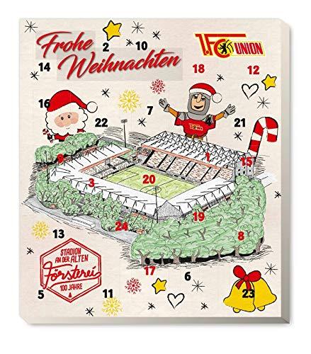 Fairtrade 1. FC Union Berlin - Adventskalender 2020 - Weihnachtskalender Premium mit Poster - Bundesliga - Fußball (7,95 € /100 g)