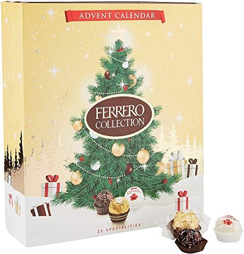 Ferrero Collection Adventskalender 2020 mit weißer Milch, Dark Raffaelo Collection Adventskalender 271g