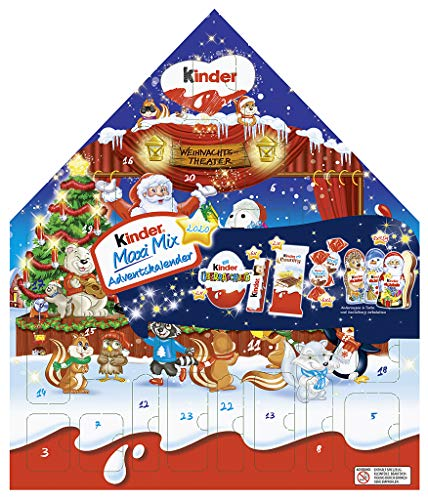 Ferrero Kinder Maxi Mix Adventskalender 2020 MOTIV: Weihnachtstheater (351g) + usy Block – KINDER MIX – detail 3