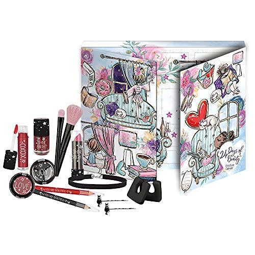 fesh! - Kosmetik-Adventskalender für Teens, Stay Chic, 24 Beauty und Make-Up Überraschungen, Highlights für Augen, Lippen und Gesicht, in edler Box, besondere Geschenk-Idee für junge Frauen