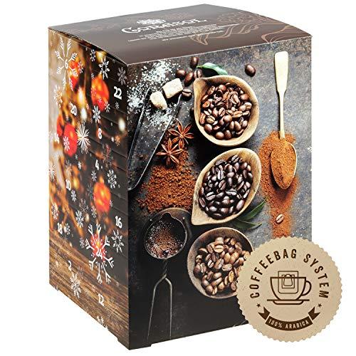 Flavoured Coffee Adventskalender 2020 XL, 24 aromatisierte Kaffee-Kreationen im Coffebag für Genießer