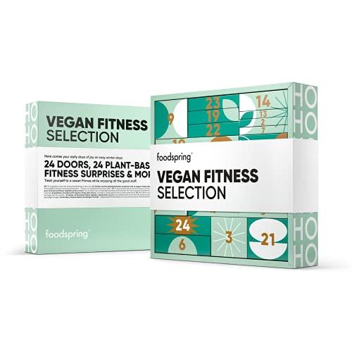 foodspring Adventskalender 2021, Vegan Fitness Selection, 1690g, 24 pflanzliche Fitness Überraschungen: Für eine fitness-freundliche Vorweihnachtszeit