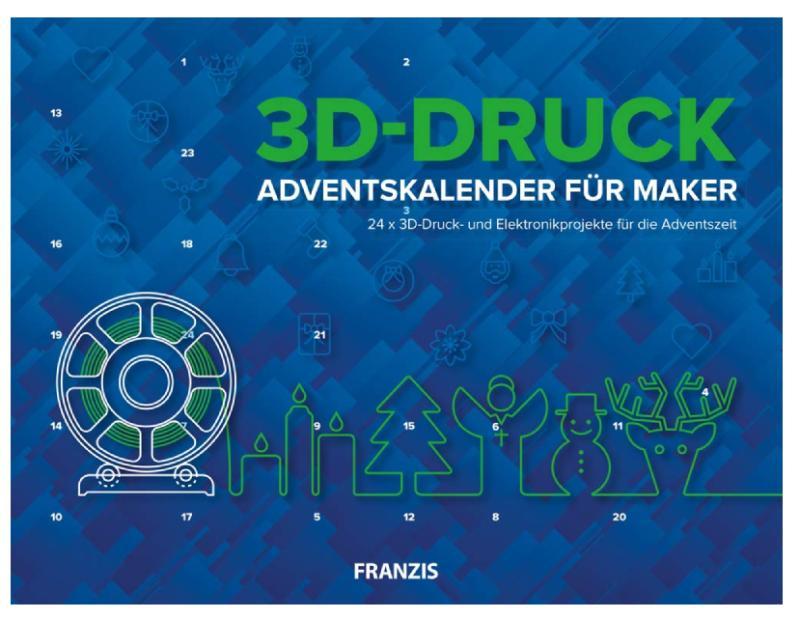 FRANZIS 3D-Druck Adventskalender für Maker 2020