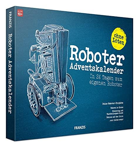 FRANZIS 67161 - Roboter-Adventskalender 2021 – in 24 Tagen zum eigenen fahrbaren Roboter, ganz ohne Löten, für technikbegeisterte Kinder ab 10 Jahren