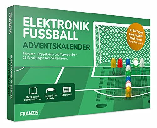 Franzis 67333-6 Elektronik-Fußball-Adventskalender-in 24 Tagen zum eigenen Mini-Game ohne Löten, für Kinder ab 14 Jahre, bunt