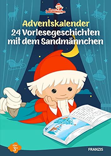 FRANZIS 60676 - Sandmännchen Geschichten Adventskalender mit 24 Vorlesegeschichten, ideal für die Vor-Weihnachtszeit und die ganze Familie, empfohlen ab 3 Jahren