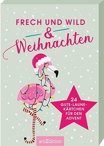 Frech & wild & Weihnachten. Adventskalender Kartenbox mit 24 Gute-Laune-Kärtchen für den Advent: Vorfreude auf Weihnachten ein bisschen anders
