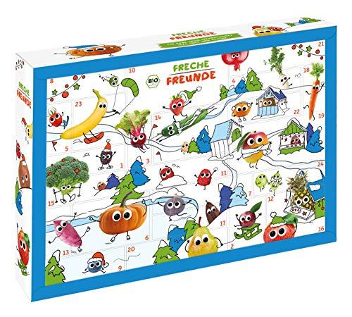 Freche Freunde Bio Adventskalender, Weihnachtskalender gefüllt mit Bio Kinder-Snacks & Spaß, ohne Industriezucker, ideal für Kleinkinder ab 1 Jahr, 2200 g
