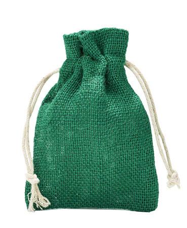 Jutesäckchen Grün