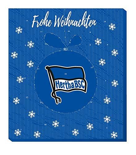 Hertha BSC Adventskalender 2020 Weihnachtskalender Premium mit Poster Kalender Bundesliga Fußball + Schlüsselanhänger (7,95 € /100 g)
