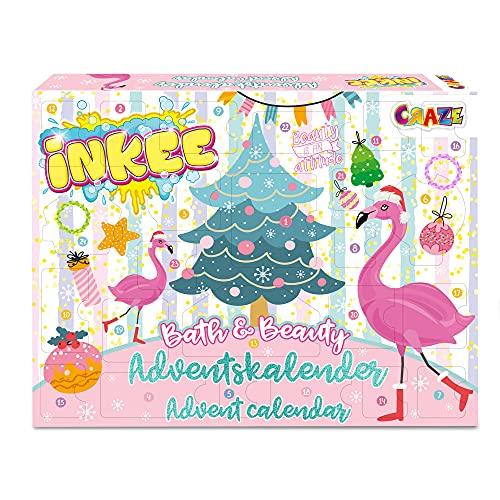 CRAZE ADVENTSKALENDER INKEE Kinder Badespaß Zauberbad Weihnachtskalender mit Badebomben DIY Badekugel kreativer Spielzeug Kalender 32688