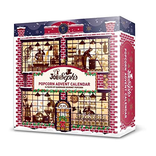 Joe & Seph's Popcorn Advent Calendar | New 2020 Version | 24 x Individual Bags | Gluten Free | Suitable for Vegetarians