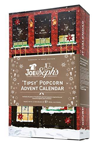 "Joe & Seph's ""Tipsy"" Popcorn Advent Calendar   24 x Individual Bags   Suitable for Vegetarians   Real Alcohol"