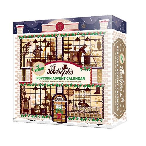 Joe & Seph's Vegan Popcorn Advent Calendar | 24 x Individual Bags | Gluten Free | Suitable for Vegetarians | Vegan Friendly