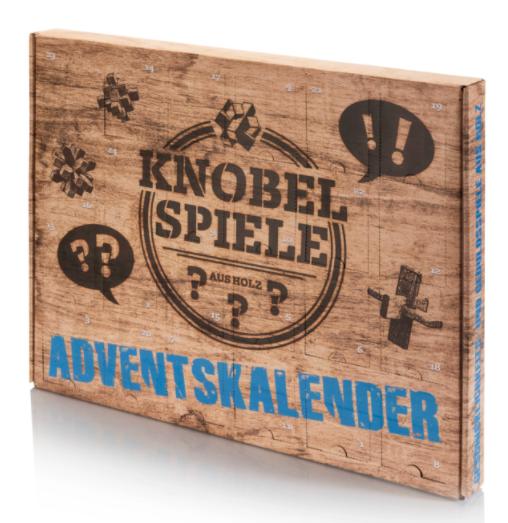 Adventskalender Knobelspiele Holz